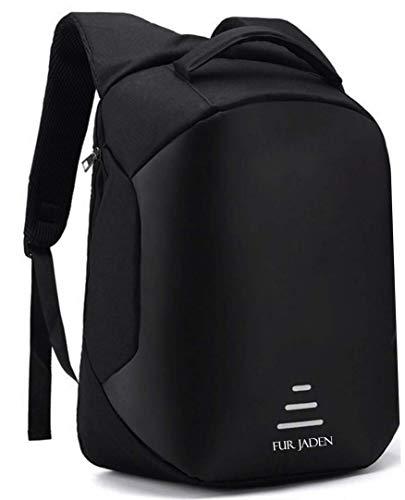 Fur Jaden 20L Black Anti Theft Bag 15.6 Inch Laptop Backpack with USB Charging Port Image 5