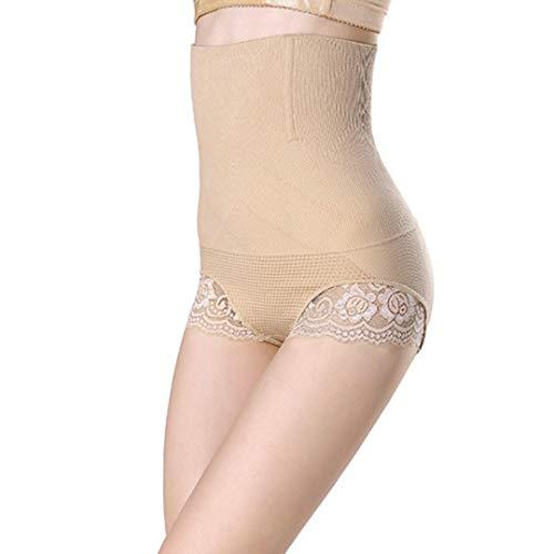MERICAL Lady Hohe Taille Trainer Bauch Kontrolle Thong Nahtlose Unterwäsche Shaper Shapewear(XL,Khaki)