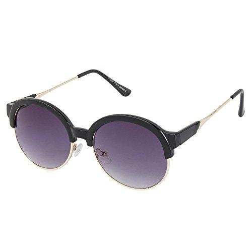 Danny Daze UV Protected Round Women Sunglasses (D-2800-C1|51MM|Violet)