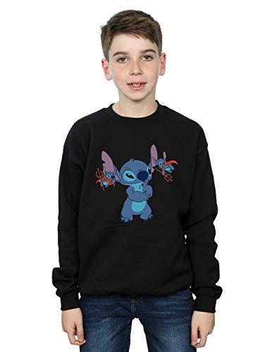 Jersey Stitch-pullover (Disney Jungen Lilo & Stitch Little Devils Sweatshirt Schwarz 9-11 Years)
