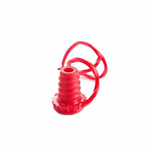HCFKJ Anti-verlorene Silikon-hängende Taste Wein Stecker Flaschenkapsel Abdeckungs Küchen Werkzeuge (ROSA)