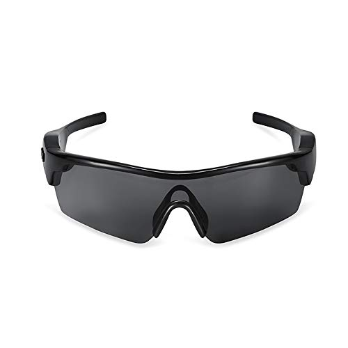 JAY-LONG Bluetooth-Smart-Brillen, Stilvolle Polarisierte Sonnenbrillen, Multifunktions-Sonnenbrillen Von Drive, Verlustfreie KlangqualitäT, Lautsprecher- Und Headset-Dual-Modus,Black