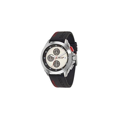 Sector No Limits Hommes Chronographe Quartz Montre avec Bracelet en Cuir R3271687003
