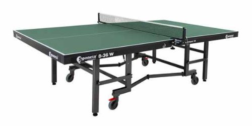 Sponeta S 8-36 w Indoor Tischtennisplatte 25 mm grün mit Netz