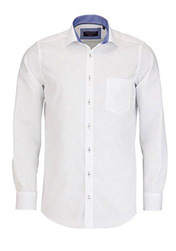 CASAMODA Herren Freizeithemd Weiß (Weiß 000)