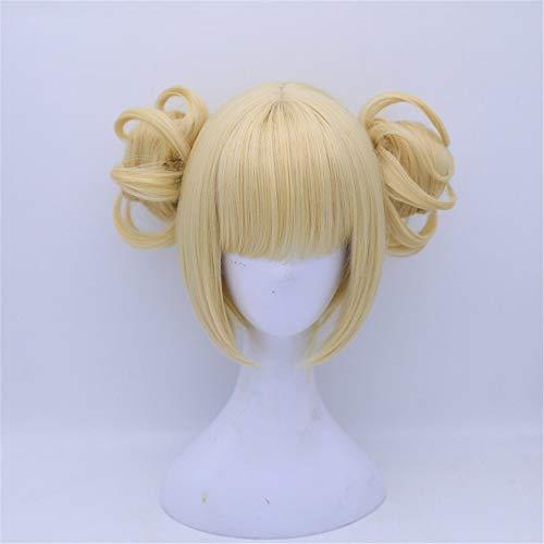 LACKINGONE Damenperücke, für Partys von Gilrs' Lonita, gelb-blond, Cosplay-Perücke mit Kappe