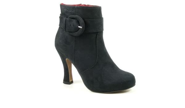 Tamaris Schuhe Plateau Stiefel High Heels Ankle Boots black