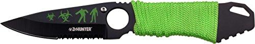 Z Hunter Outdoormesser, Gesamtlänge cm: 17,78, hell braung grün cord gewickelter griff lanyard, (Zombie Hunter Axt)