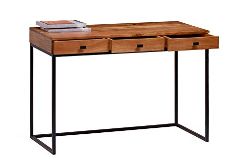 Khati Solid Wood Writing Study Table for Students  Brown