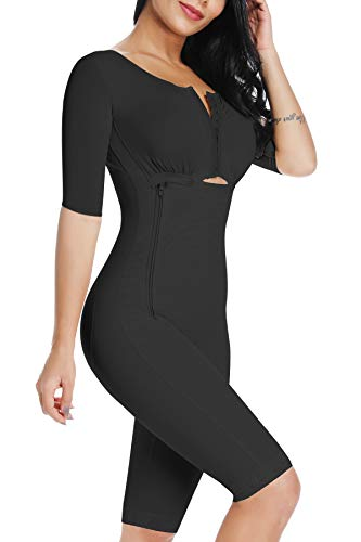 SLIMBELLE Donna Snellente Shapewear Intimo Modellante Modella Tuta con Gancio Dimagrante Mutande Corpo Shaper-Black-S