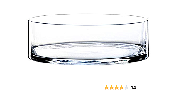 Transparent 8cm Verre /à Bougie INNA-Glas Coupe en Verre Ronde KENDY Coupelle Ronde /Ø 19,5cm