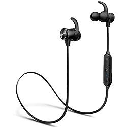 iTeknic Écouteur Bluetooth Sport sans Fil, Écouteur Oreillette Bluetooth 5.0 Étanche Intra Auriculaire Casque Stéréo Réduction de Bruit Micro Course Jogging pour Apple iPhone Android Samsung Huawei