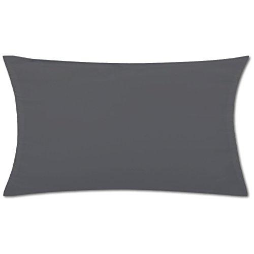 Kissenhülle ( 100 Größen und Farben ) mit und ohne Füllkissen, Serie: Ellen, Kissenbezug Dekokissen, Auswahl: 40x60cm mit Füllung anthrazit - dunkelgrau