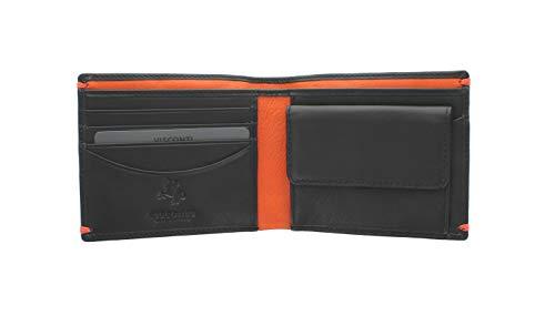 67c903f400 Portafoglio in Pelle Collezione MONTREUX Visconti Alpine AP62 Nero/Arancione