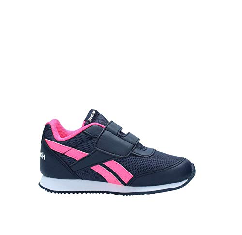 Reebok royal cljog 2kc-scarpe da ginnastica, bambina, blu-(sport-collegiate navy/acid pink)