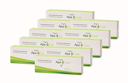 10x Apa Care remineralisierende Zahncreme 75 ml Flüssiger Zahnschmelz Zahnpasta