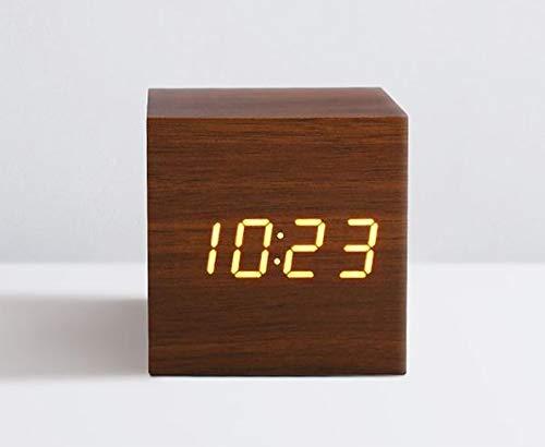 General supplies Reloj Despertador LED Digital Madera