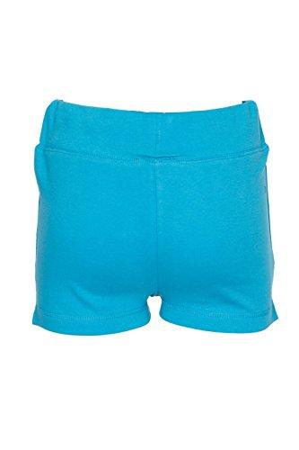 Décontracté été coton vacances shorts courte pour Femmes Turquoise