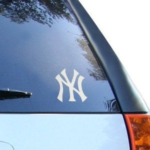 Aufkleber New York Yankees NY - 76mm SILVER - Vinyl Decal Window Sticker (Silver Vinyl)