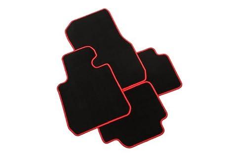 CarFashion 227911 tapis de sol pour opel zafira c tourer; modèles 7 places : 2012–00.0000 décembre; racer 9–bordure rouge et rabattus