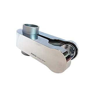 Aqualisa Pinch Grip sliding handset holder - 25mm - Satin Chrome