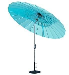 Garden Factory - Parasol Shanghai 260cm diam avec manivelle Turquoise - Turquoise