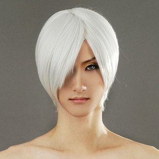 Tqglobal Silver White Wig, Devil May Cry Dante Halloween Cosplay Costume (Dante Kostüm)