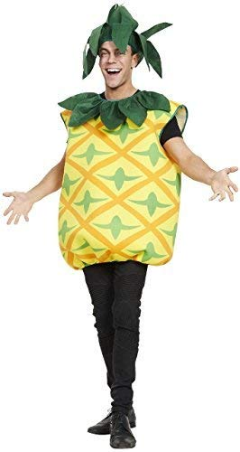 Herren Damen Erwachsene Ananas Gelb Frucht 5 einen Tag Hawaii Thema Party Spaß Kostüm Kleid Outfit