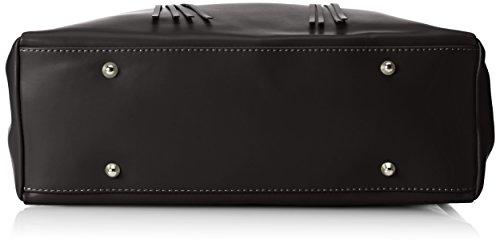 CTM Borsa elegante a mano da donna in vera pelle made in Italy 39x28x13 Cm Nero