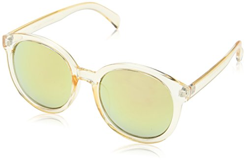 New Look Damen Paddy Perspex Sonnenbrille, Elfenbein (Crystal), 55