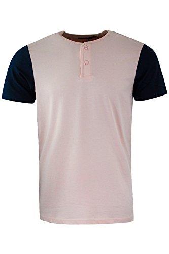 Brave Soul -  T-shirt - Maniche corte  - Uomo Summer Pink   Dark Navy Blue