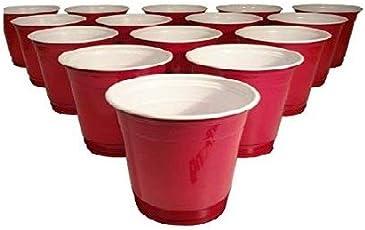 Madcaps Beer Pong Glasses (Set Of 15Pcs) - Red