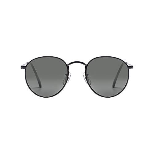 Z-ZOOM by Travel Blue John Lennon Stil Polarisierte Sonnenbrille 55052 Zeitlos Ikonisches Design Schwarzer Rahmen Stilvolle Unisex Designerbrille Grüne Gläser