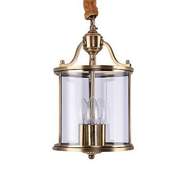 YAMEIJIA 3-Licht Zylinder Kronleuchter Deckenfluter - Ministil, 110-120V / 220-240V Glühbirne Nicht Inklusive / 10-15㎡ / E12 / E14 -