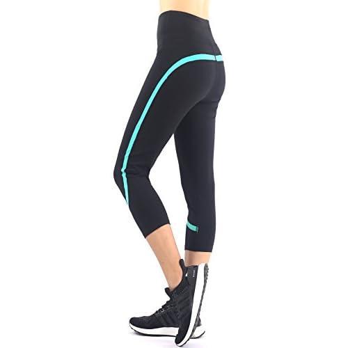 31LUynNjBRL. SS500  - Sugar Pocket Womens Outdoor Capris Fitness Tights Leggings Walking Running Yoga Pants