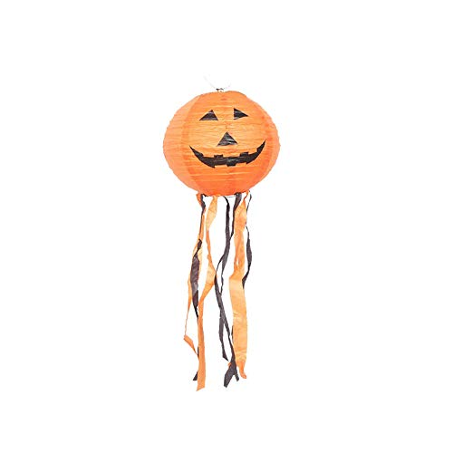 Halloween Kürbis Papier Ausschnitte - Amcool -Halloween Deko Laterne 35cm LED