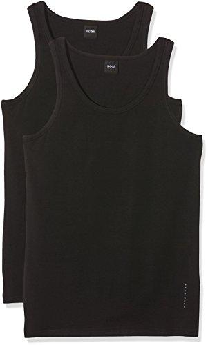 BOSS Herren T-Shirt Tank Top 2P CO/EL, 2er Pack, Schwarz (Black 1), Large