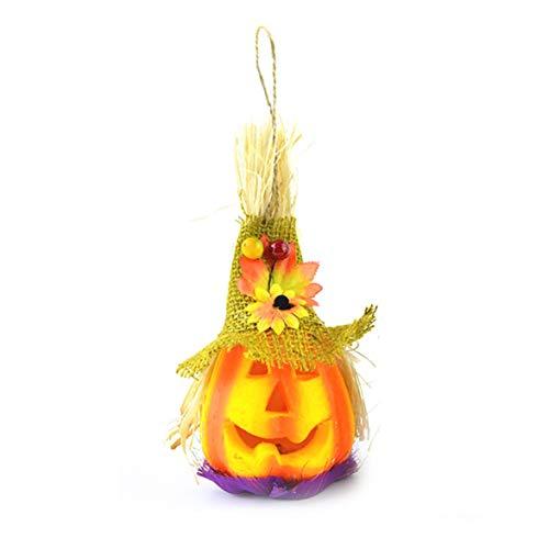 Kongqiabona Unique Halloween Luminous Scarecrow Jack-o-Lanterns Flash Toy Show Props Pumpkin Lamp Party Festival Decoration