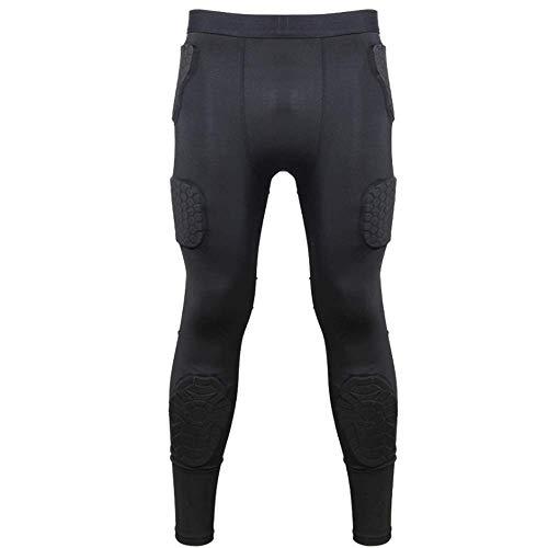 RED SHORE Männer gepolsterte Fußball-Schutzausrüstung Set Trainingsanzug für Fußball Basketball Paintball Rib Protector Sport Schutzhosen (L) -