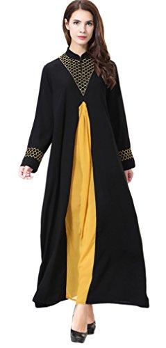 Auspicious beginning Muslimische Frauen Langarm-islamisches elegante Abayas Loose Fit Maxi-Kleid