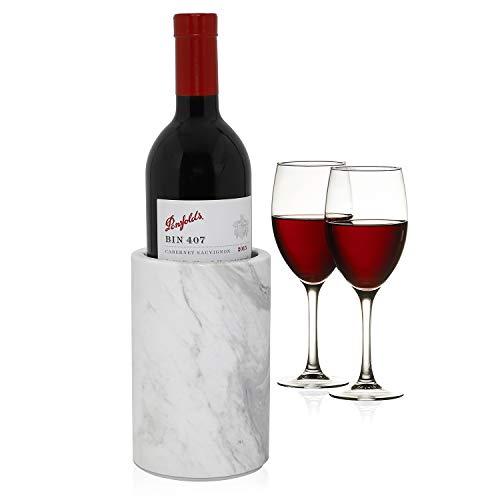 ChasBete Weinkühler aus natürlichem Marmor, für Weinkühler, um Champagner kalt zu halten, auch als Küchenutensilienhalter/dekorative Vase -
