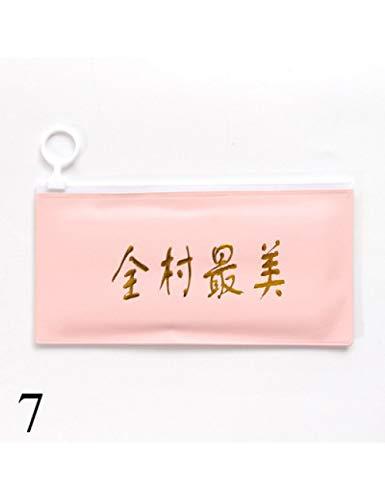 FedermäppchenLustige Buchstaben Reißverschluss Pu Federmäppchen Kawaii Bleistiftbeutel Für Kinder Geschenk Zurück In Die Schule Niedlich Briefpapier G ()
