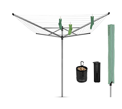 Brabantia Rotary Lift-O-Matic Advance Washing Line with 4 Arms, 60 m