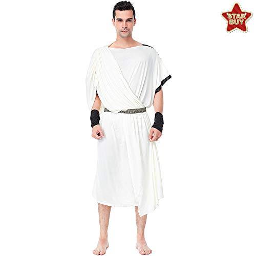 Römische Paare Kostüm Für - COSOER Griechische Göttin Cosplay Kostüm Arabische Mittelalterliche Römische Paar Weißes Kleid Für Halloween,Male-XL