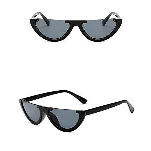 KEIBODETRD 2PCS Retro Style Classic Spiegel Cat Eye Shaped Half Frame weibliche Sonnenbrille