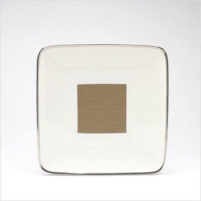 Noritake Cameroon Sand Square Accent Plate by Noritake Noritake Sand