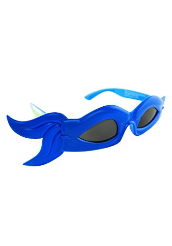 (Sunstaches Officially Licensed TMNT Bandana Glasses, Blue by H2W)