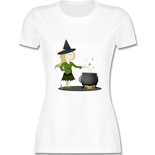 Halloween - kleine Hexe - XXL - Weiß -