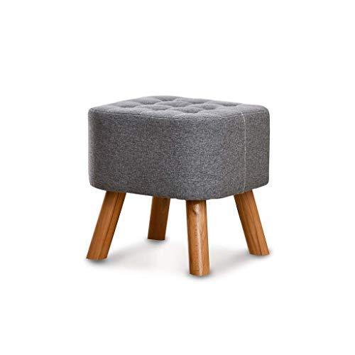 BZXFDX Fußbank, multifunktionaler Fußbank aus massivem Holz, moderne kleine Sitzbank für Erwachsene, Sofabank/Grau - Küche Kiefer Sitzbank