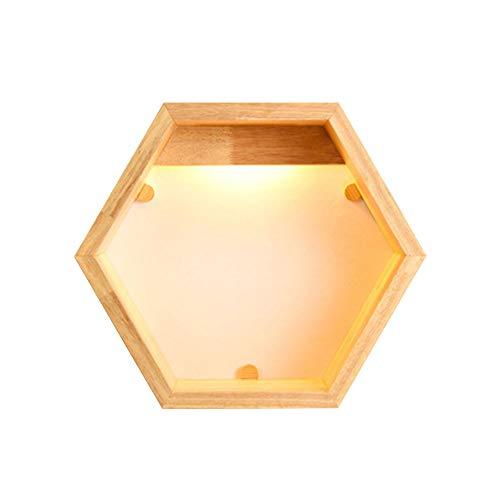 LED Wandleuchte Nordic modern minimalistisch Persönlichkeit kreativ Holzregal Beleuchtung Wohnzimmer Schlafzimmer Balkon Flur Gang Aufbewahrung dekorative Leuchten -